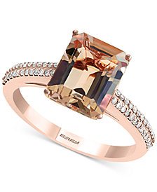 EFFY® Morganite (2-9/10 ct. t.w.) & Diamond (1/6 ct. t.w.) Ring in 14k Rose Gold