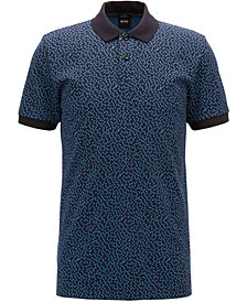 BOSS Men's Slim-Fit Patterned Cotton Polo