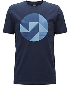 BOSS Men's Slim-Fit Graphic Cotton T-Shirt
