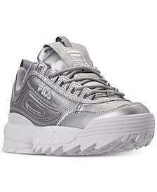 Women's Disruptor II Premium Metallic Casual Athletic Sneakers from Finish Line