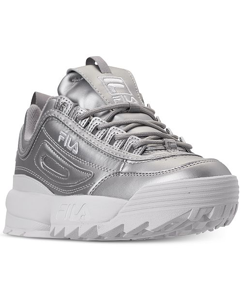 select for latest lowest discount big discount of 2019 Women's Disruptor II Premium Metallic Casual Athletic Sneakers from Finish  Line