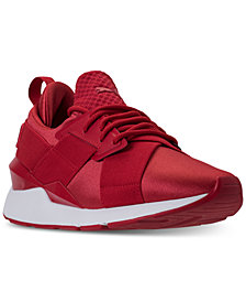 Puma Women's Muse Satin Casual Sneakers from Finish Line