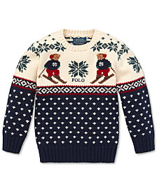 Polo Ralph Lauren Little Boys Polo Ski Bear Sweater