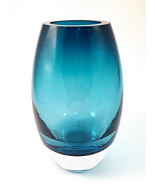 Badash Crystal Peacock Blue Radiant Vase