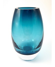 Peacock Blue Radiant Vase