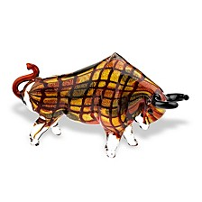 Toro Grande Bull 1Art Glass Sculpture