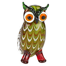 Badash Crystal Owl Art Glass Sculpture