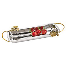 Badash Crystal Petals Stainless Steel & Brass Tray