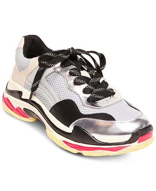 3786fb9224b Steve Madden Women's Nassau Lace-Up Sneakers & Reviews ...