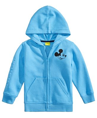 Disney Toddler Boys Mickey Mouse Graphic Zip Up Hoodie Sweaters