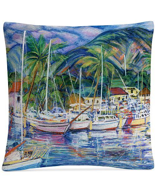 """Baldwin Manor Shadian Lahaina Marina 16"""" x 16"""" Decorative Throw Pillow"""