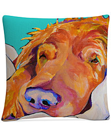 "Pat Saunders-White Snoozer King 16"" x 16"" Decorative Throw Pillow"