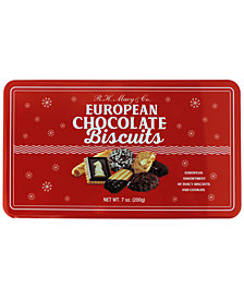 R.H. Macy & Co. European Chocolate Biscuit Small Tin