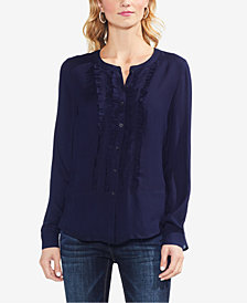 Vince Camuto Ruffle-Front Blouse