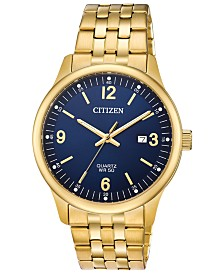 Citizen Men's Quartz Gold-Tone Stainless Steel Bracelet Watch, Created for Macy's, 40mm, Created for Macy's