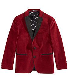 DKNY Big Boys Red Velvet Suit Jacket