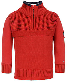 Tommy Hilfiger Toddler Boys Quarter-Zip Sweater