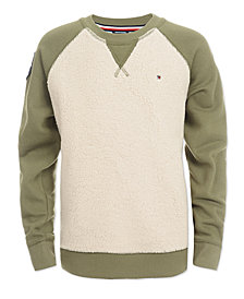 Tommy Hilfiger Big Boys Raglan Sherpa Sweater