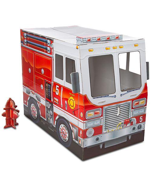 Melissa Doug Fire Truck Indoor Playhouse
