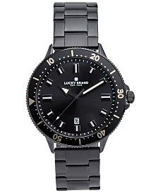 Lucky Brand Men's Dillon Black Stainless Steel Bracelet Watch 42mm