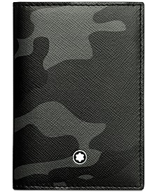 Montblanc Men's Sartorial Gray Camouflage  Leather Business Card Holder