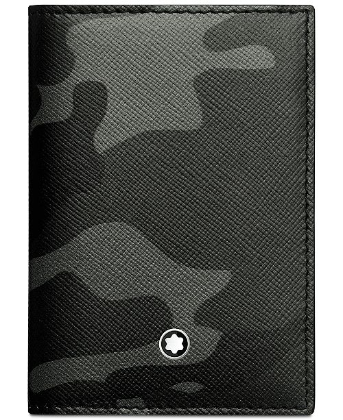b0aa1e12ebf0 ... Montblanc Men's Sartorial Gray Camouflage Leather Business Card Holder  ...