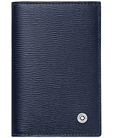 Westside Blue Leather Business Card Holder