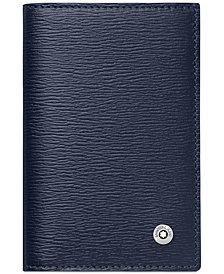 Montblanc Westside Blue Leather Business Card Holder