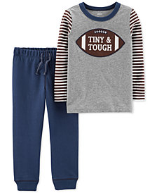 Carter's Baby Boys 2-Pc. Cotton Football Top & Jogger Pants Set