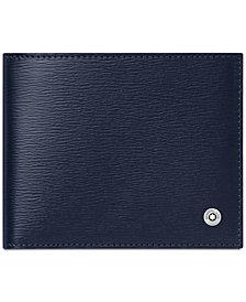 Montblanc Men's 4810 Westside Blue Italian Leather Wallet