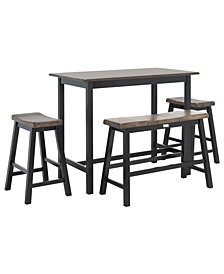 Ronin 4-Pc. Set Pub Table, Quick Ship