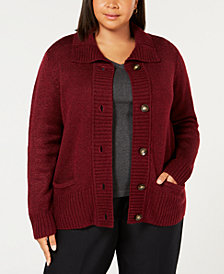 Karen Scott Plus Size Marled Cardigan, Created for Macy's