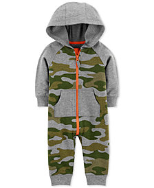Carter's Baby Boys 1-Pc. Camo-Print Cotton Coverall