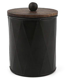 Thirstystone Large Black Metal Canister with Wood Top