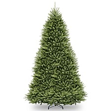 National Tree 7 .5' Snowy Mountain Pine Slim Hinged Tree with 500 Clear Lights