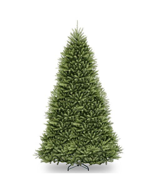 National Tree Company National Tree 7 .5' Snowy Mountain Pine Slim Hinged Tree with 500 Clear Lights