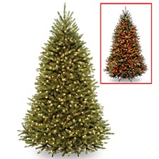 National Tree 7 .5' Dunhill Fir Hinged Tree with 700 Dual Color(R) LED Lights + PowerConnect System-9 Functions