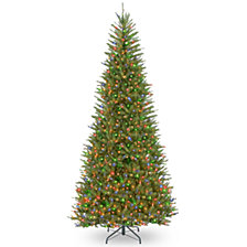 National Tree 9' Dunhill Fir Slim Tree with 800 Multicolor Lights