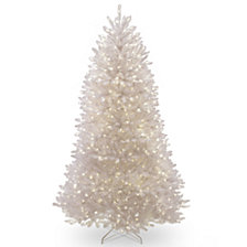 National Tree 7 ft. Dunhill White Fir Tree with Clear Lights