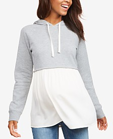 Motherhood Maternity Layered-Look Hoodie
