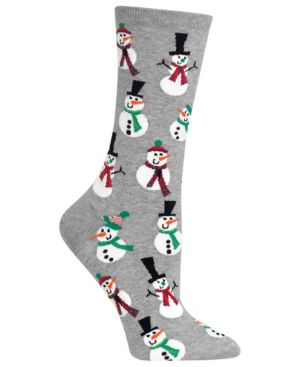 Women'S Snowmen Crew Socks, Sweatshirt