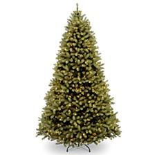 "National Tree 6' ""Feel Real"" Downswept Douglas Fir Hinged Tree with 600 Clear Lights"