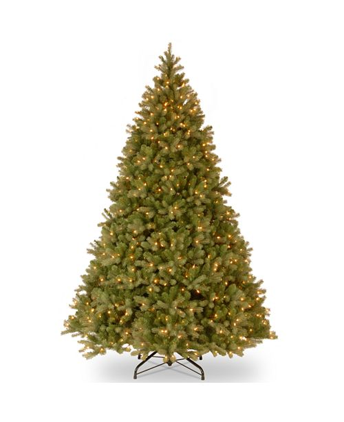 "National Tree Company National Tree 10' ""Feel Real"" Downswept Douglas Hinged Tree with 1000 Clear Lights"