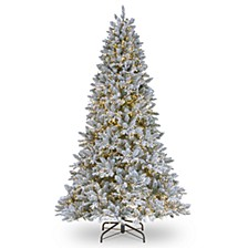 National Tree 7 .5' Feel Real Iceland Fir Hinged Tree with 4000 Dual Color  Cosmic Lights™  LEDs + PowerConnect™