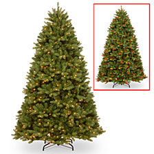 National Tree 6 .5 ' Feel Real  Newberry ™  Spruce Hinged Tree with 650 Dual Color  LED Lights & PowerConnect™