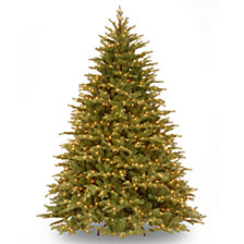 National Tree Company 6 .5' Feel Real  Nordic Spruce Hinged Tree with 750 Clear Lights
