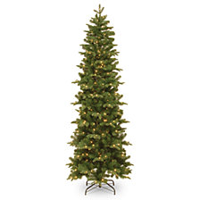 National Tree Company 6 .5' Feel Real  Prescott Pencil Slim Hinged Tree with 300 Clear Lights