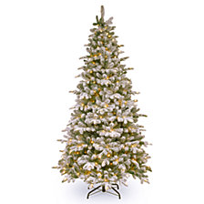 National Tree Company 6 .5' Feel Real  Everest Fir Medium Hinged Tree with 350 Clear Lights