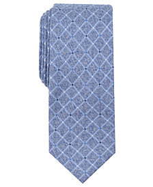Perry Ellis Men's Nenad Grid Slim Tie