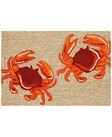 Liora Manne Front Porch Indoor/Outdoor Crabs Natural 2' x 5' Area Rug